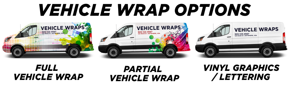 Marion Vehicle Wraps vehicle wrap options