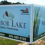 Custom post-panel real estate sign