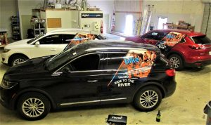 cohesive commercial fleet vehicle wraps