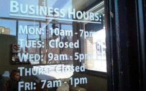 Elmendorf Vinyl Signs hours of operation sign 300x187